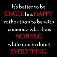 Single but happy