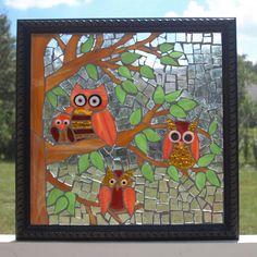 Vitrail mosaïque réutiliser la fenêtre Frame de par ARTfulSalvage