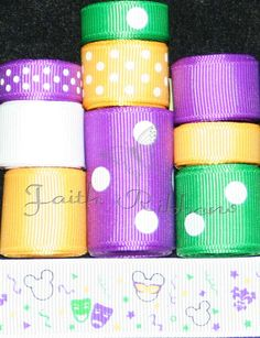 Grosgrain Ribbon Lot Mix 10YDS Minnie Mickey by FaithRibbonsDotCom