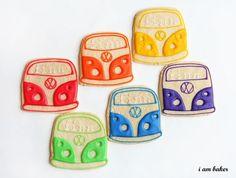 Rainbow VW Bus cookies...yum!