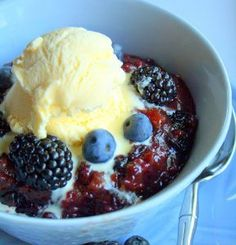 With berries being abundant in summer, this recipe for Two-Hour Berry Cobbler is great to make during hot months. You can also make it any time of the year with frozen berries.