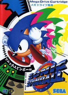 Sonic Spinball - Sega Megadrive JPN boxart