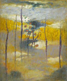 L'automne est tombé dans l'eau ! / Ascension. / Oil on canvas. / By Rick Stevens.