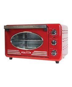 Look at this #zulilyfind! Red Retro Six-Slice Toaster Oven #zulilyfinds