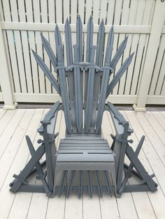 Game of Thrones chair. Adirondack chair as a base. Handcrafted wood swords painted and assembled on the frame.