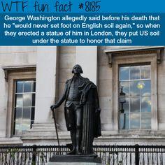 George Washington Statue in London - WTF fun fact