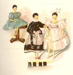 Queen Victoria's Dolls - by F. Low, Chromolithograph -1894- MLLE. BROCHARD