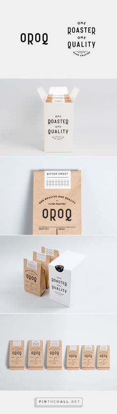 OROQ Identity by Plat via The Design Blog curated by Packaging Diva PD.  Clever logo on this packaging PD