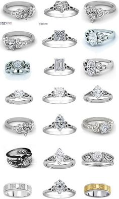 Celtic Engagement Rings. The first one in the 4th row is my favorite :)
