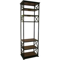 Extra Tall Wood and Iron Etagere | From a unique collection of antique and modern shelves at http://www.1stdibs.com/furniture/storage-case-pieces/shelves/