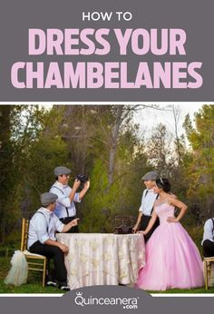 Chamberlains give a special touch to the Quinceañera celebration, which is why they must look impeccable!