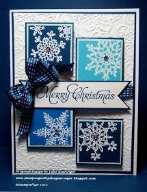Stamping with Julie Gearinger: Lacy Snowflakes- Two Challenges in One!