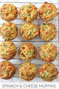 4 recipes for salty muffins that you will like very much - Pequeocio - Salty muffins, kid-proof vegetables! How to make salty vegetable muffins. Salty muffin recipe, a gr - Spinach Muffins, Savory Muffins, Cheese Muffins, Healthy Muffins, Savoury Muffins Vegetarian, Savoury Vegetable Muffins, Savoury Muffin Recipe, Vegetable Snacks, Vegetarian Kids