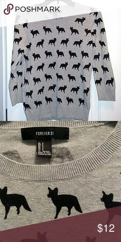 Forever 21 sweater Like new gray fox parade sweater Forever 21 Sweaters Crew & Scoop Necks