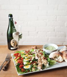 summer cobb with green goddess dressing