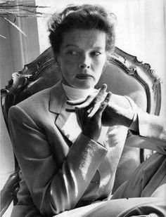 Katharine Hepburn, 1952, photo by Norman Parkinson