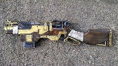 Steampunk Gun Nerf Slingfire Victorian Gothic Cosplay Painted Prop ...