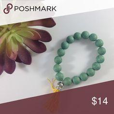 NEW wood and tassel stretch bracelet Never worn KatDJewelry Jewelry Bracelets