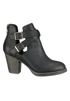Briana Buckle bootie (original price, $44) available at #Maurices