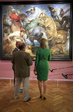 Queen Mathilde of Belgium visits the exhibition Sentation and Sensuality, Rubens and his Heritage of Belgian painter Peter Paul Rubens (1577 - 1640 )at the Royal Museum of Fine Arts in Brussels, Belgium, 02 October 2014 10/3/2014