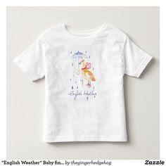 """English Weather"" Baby fine jersey t shirt"