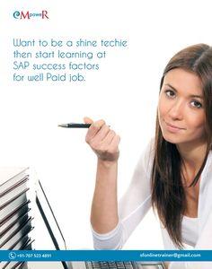 #SAP #Successfactors makes every techie into an entrepreneur #SAPSucessfactors #onlinetraining