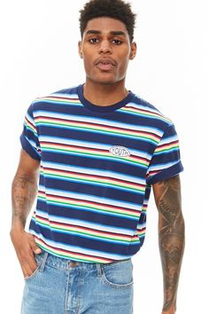 Product Name:Youth Patch Striped Tee, Category:mens-main, Price:12.9