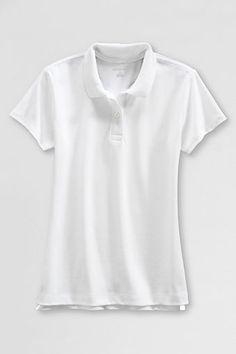 ace5e0c0d School Uniform Short Sleeve Fem Fit Interlock Polo. School Uniform  GirlsSchool UniformsUniform ShirtsLands EndShort ...