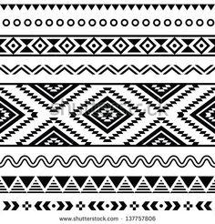 Stock Images similar to ID 161128514 - aztec navajo decorative border...
