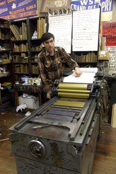 Hatch Show Print letterpress studio!