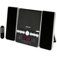 Craig 3-Pieces CD Shelf System with Dual Alarm Clock AM/FM Stereo Radio