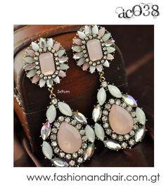 Oversized pastel earrings-PROMOCIÓN ESPECIAL