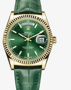 Rolex 'O.P.' Green face and yellow gold case... For HER 0331<3