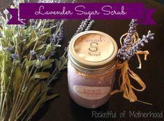 Relaxing DIY Lavender Sugar Scrub by Pocketful of Motherhood #DIY