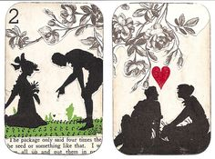 Altered Playing Cards by back.roads, via Flickr