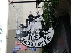 Toy store sign - Paris