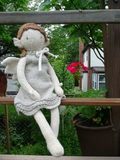 Knitted doll Scroll down for pattern link