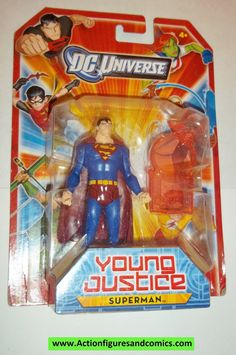 Mattel DC universe YOUNG JUSTICE action figures SUPERMAN 3.75 inch 1 of the 4 very low produced final series figures. Still factory sealed in the original package condition: very minor shelf wear only