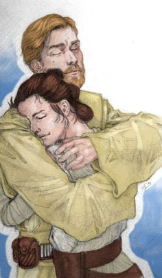 Not no one' by Rivaqaha Rey and Obi Wan father daughter Star Wars Love, Star Wars Fan Art, Star Wars Clone Wars, Star Trek, Rey Kenobi, Star Wars Personajes, The Force Is Strong, Couple Drawings, Foto Art