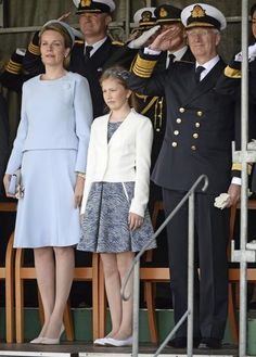 King Philippe, Queen Mathilde and Princess Elisabeth attends Baptism Ceremony