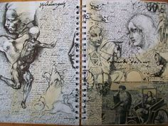 """Jay Carpenter - Sketchbook Page- Research On The Renaissance For """"Mona Lisa Apple"""""""