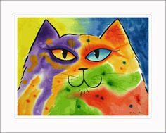 'Happy Cat' Matted Open Edition Medium Print by Drew Strouble at catmandrew.com♥•♥•♥