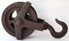 Antique Cast Iron Pulley $10