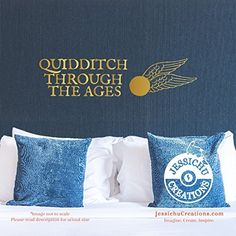 Quidditch Through the Ages - Harry Potter Inspired Quote Wall Vinyl Decal