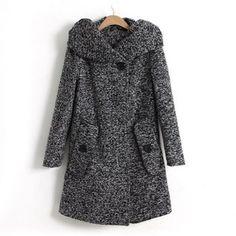 Hooded long sleeves modern style cotton blend pockets design women s