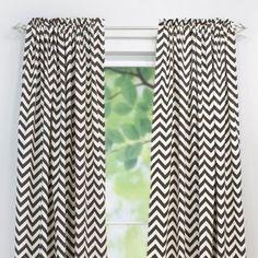Chooty & Co Village Brown Natural Rod Pocket Curtain Panel