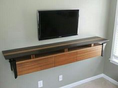 Wenge and sapele wall mounted tv console 2 0 by jamie mcdonald with regard to entertainment decorations 9 Floating Media Shelf, Floating Tv Console, Floating Wall, Wall Mounted Media Console, Console Shelf, Tv Shelf, Shelf Wall, Wall Mount Entertainment Center, Diy Entertainment Center