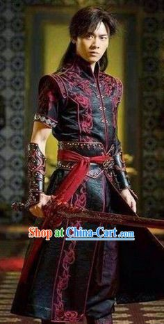 Yi Yifeng Asian Swordman Costumes and Cuff Complete Set