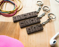 Keychain personalized birthday gift idea best friend keychains periodic table name keychain gifts for him gifts for her urtaz Image collections