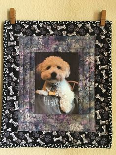 CUSTOM ORDER Art Quilt-Our family's Best Friend